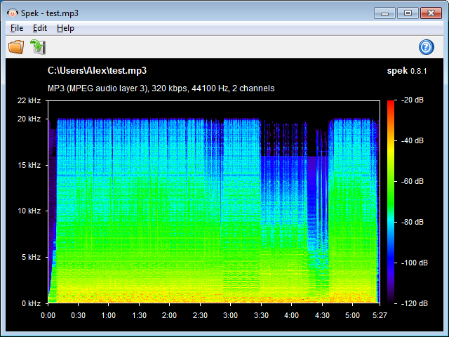 Spek – Free Acoustic Spectrum Analyzer / Spectrogram Viewer